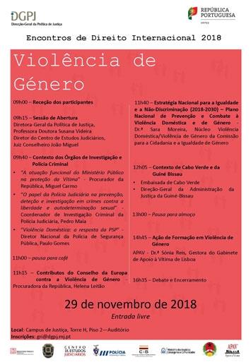 """Encontros de Direito Internacional - """"Violência de género"""""""